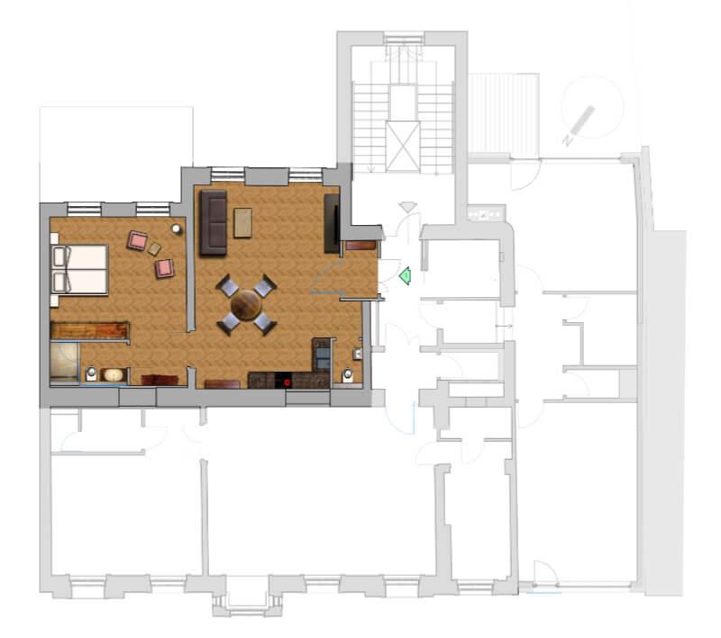 Apartment Sissi, Schönbrunn Living: Grundriss