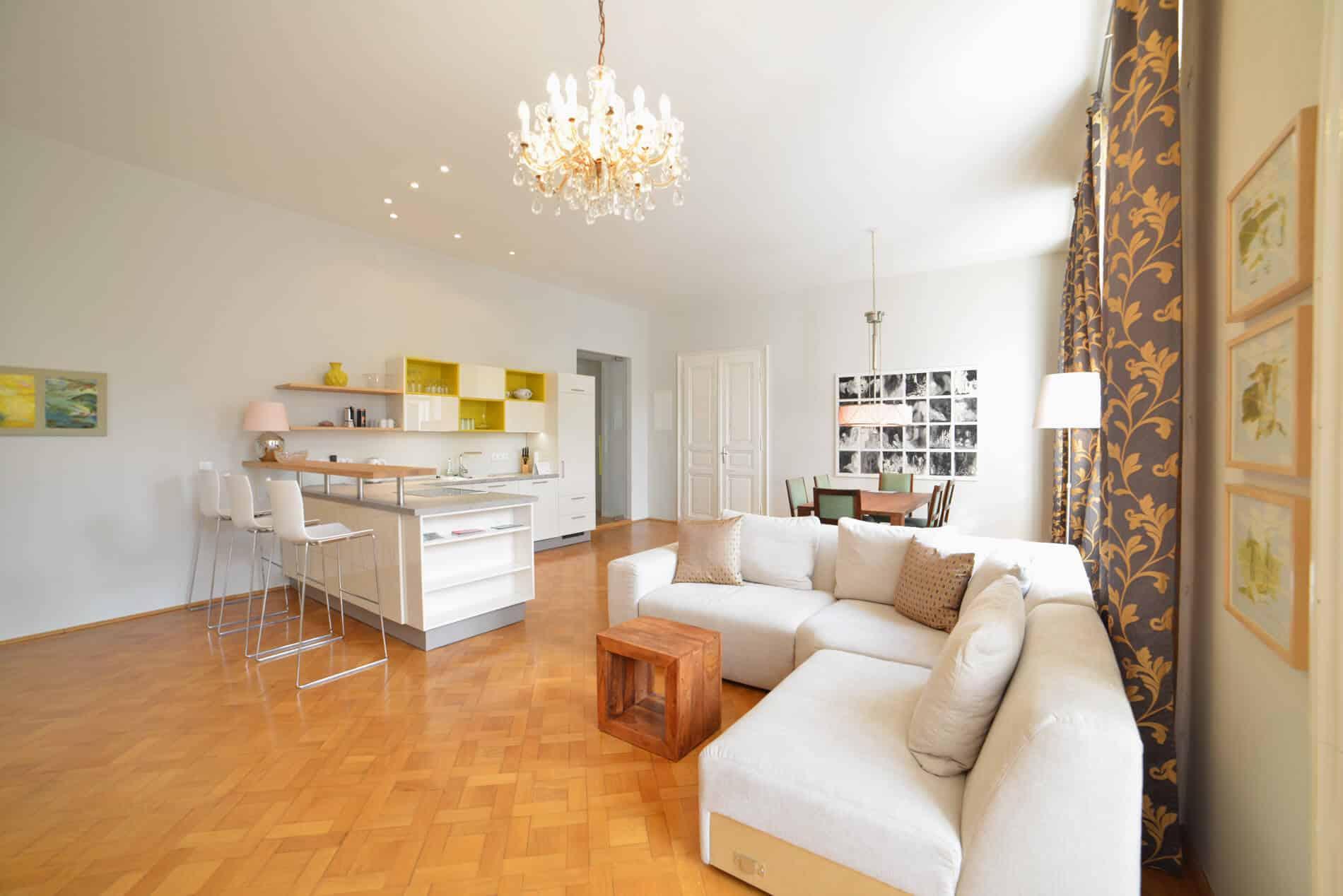 Apartment Maria Theresia Wohnküche